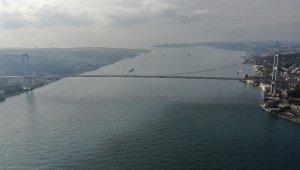 15 Temmuz Şehitler Köprüsü ve Eminönü Meydanı'ndaki sessizlik havadan görüntülendi