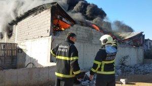 Adana'da fidan serasında yangın