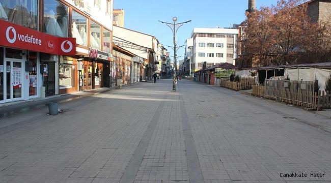Ağrı'da kısıtlamalar nedeniyle cadde ve sokaklar boş kaldı