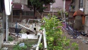 Avcılar'da 5 katlı binanın balkonları çöktü