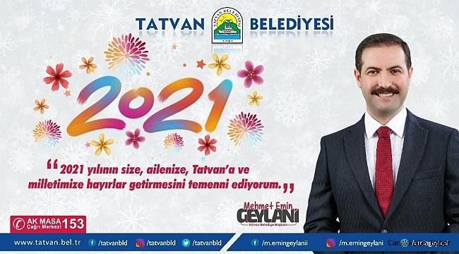 Başkan Geylani'den yeni yıl mesajı