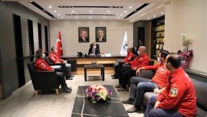 Başkan Örki'ye, AKUT yönetiminden ziyaret