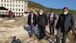 Başkan Şahin, hal kompleksi çevre düzenleme ve yapımı devam eden yatırımları inceledi