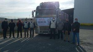 Bilecik'ten Suriye'ye 1 tır yardım malzemesi yola çıktı