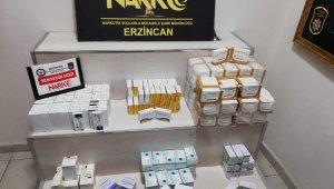 Erzincan'da 12 bin 260 adet hap ve toplam bin 550 adet ampul ele geçirildi