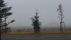 Erzurum güne sisle uyandı