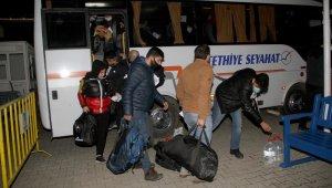 Fethiye'de 97 kaçak göçmen ile 10 organizatör yakalandı