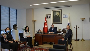 Halk Bankası yetkililerinden ÇTSO'ya ziyaret