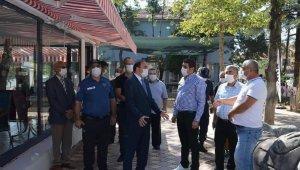 Hüyük'te kaymakam ve belediye başkanı korona virüs denetiminde