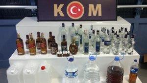 Isparta'da 138 şişe ve 119 litre sahte içki ele geçirildi