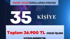 Karabük'te 56 saatlik kısıtlamayı ihlal eden 35 kişiye 36 bin 900 TL ceza kesildi