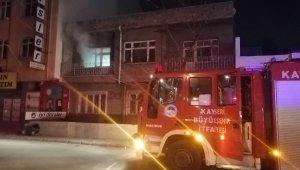 Kayseri'de boş evde çıkan yangını itfaiye söndürdü