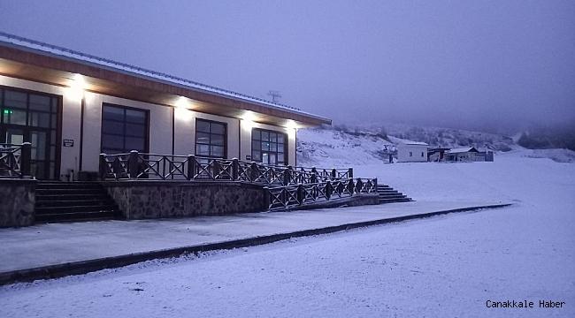 Keltepe Kayak Merkezi beyaz örtüye büründü