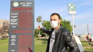 Mezitli Belediyesinin gelir-gider tablosu, ışıklı panolarda kesintisiz yayınlanıyor