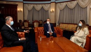 Millî Savunma Bakanı Akar ve Dışişleri Bakanı Çavuşoğlu Ukrayna'da