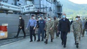 Milli Savunma Bakanı Akar ve TSK komuta kademesi Aksaz'da