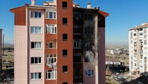 Nevşehir'de bir apartmanda çıkan yangın korkulu anlara neden oldu
