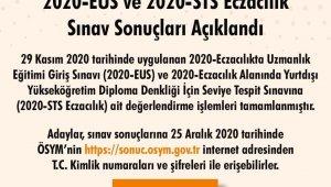 """ÖSYM: """"2020-EUS ve 2020-STS Eczacılık sınav sonuçları açıklandı."""""""