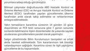 Sağlık Bakanlığından 'yakın temaslıların karantina süresine' ilişkin yeni açıklama