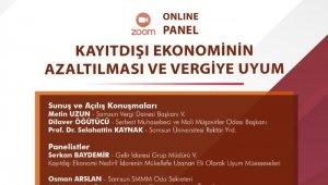 """Samsun'da """"Kayıt Dışı Ekonominin Azaltılması ve Vergiye Uyum"""" paneli"""