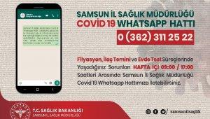 "Samsun'da ""Kovid-19 Whatsapp Hattı"" hizmete girdi"