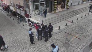 Sultanbeyli'de polis ekiplerinden droneli korona denetimi
