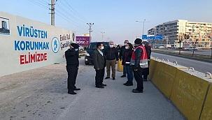 Vali Aktaş, sokağa çıkma yasağını denetledi