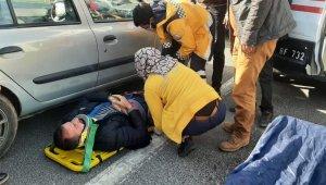 Zincirleme trafik kazası:1 yaralı