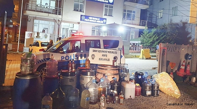 358 litre kaçak içki ele geçirildi