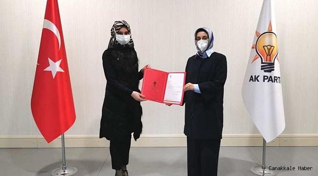 AK Parti Pazaryeri İlçe Kadın Kolları Başkanlığına atama yapıldı