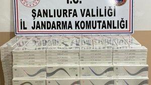 Akçakale'de 5 bin 500 paket kaçak sigara ele geçirildi