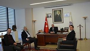 Alamos gold ÇTSO Başkanı Semizoğlu'nu ziyaret etti