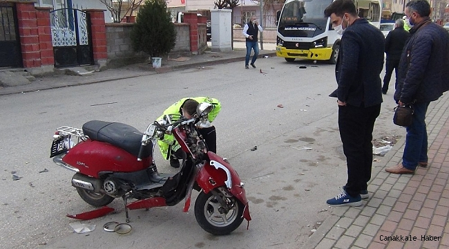 Arkadaşıyla yarış yaparken kaza yaptı, parçalanan motosikletini bırakıp kayıplara karıştı
