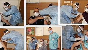 Aşılama ÇOMÜ Hastanesi'nde başladı