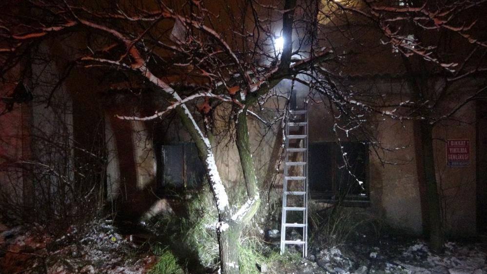 Ayvacık'ta bina yangını
