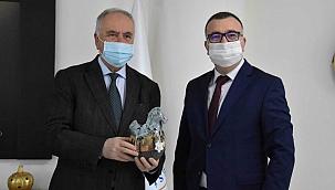 Başkan Gökhan'dan Başkan Aslan'a İade-i Ziyaret