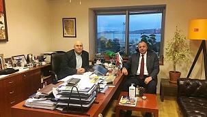 Başkan Semizoğlu'ndan TÜROB Çanakkale temsilcisine ziyaret