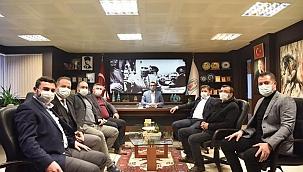 Başkanların Bülent Öz'e ziyareti