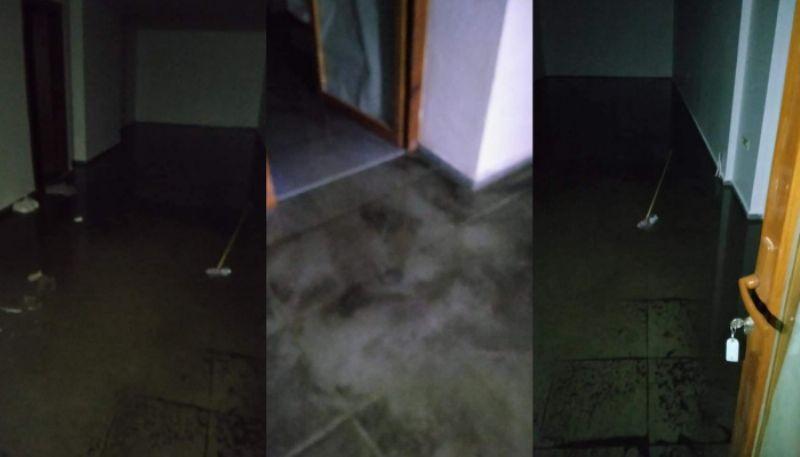 Bayramiç'te işyerlerini su bastı
