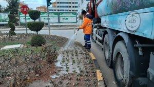 Belediye sokağa çıkma kısıtlamasında hizmet götürmeye devam ediyor