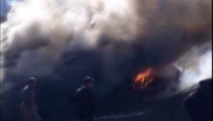 Bingöl'de ahır yangını ,hayvanlar son anda kurtarıldı