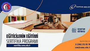 """ÇOMÜ'den """"Eğiticilerin Eğitimi Sertifika Programı"""""""