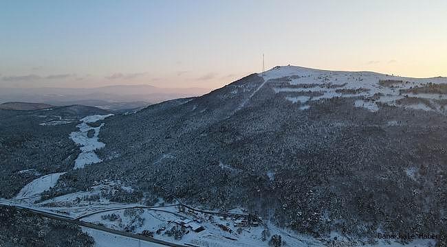Drone ile görüntülenen Çanakkale'nin kar manzaraları