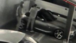 Hırsızlık yapmak için lüks otomobili böyle kestiler