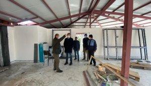 Hüyük Gençlik Merkezi inşaat alanında inceleme yapıldı