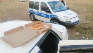 Kayseri'de hırsızların 'pizza' keyfi kısa sürdü
