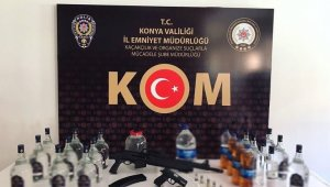 Konya'da sahte alkol yakalandı