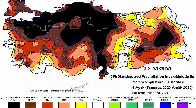 Meteoroliji'den korkutan harita! Kıtlık mı geliyor?