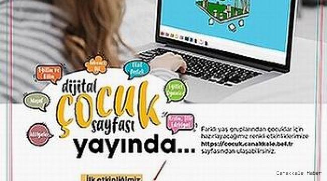 Renkli etkinlikleriyle dijital çocuk sayfası yayında