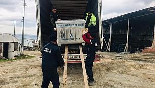 Terzialan Beldesi'ne hibe çöp konteyneri